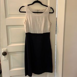 Navy and white H&M shift dress